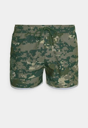 SANDRO SWIM - Swimming shorts - digital woodland/duck green
