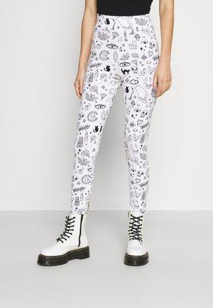 HALLOWEEN - Leggings - white/black