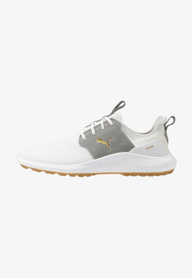 Puma Golf - IGNITE NXT CRAFTED - Golfové boty - white/high rise/team gold