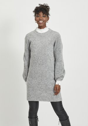 OBJEVE NONSIA - Jumper dress - light grey melange