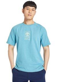 Timberland - Print T-shirt - adriatic blue - 0
