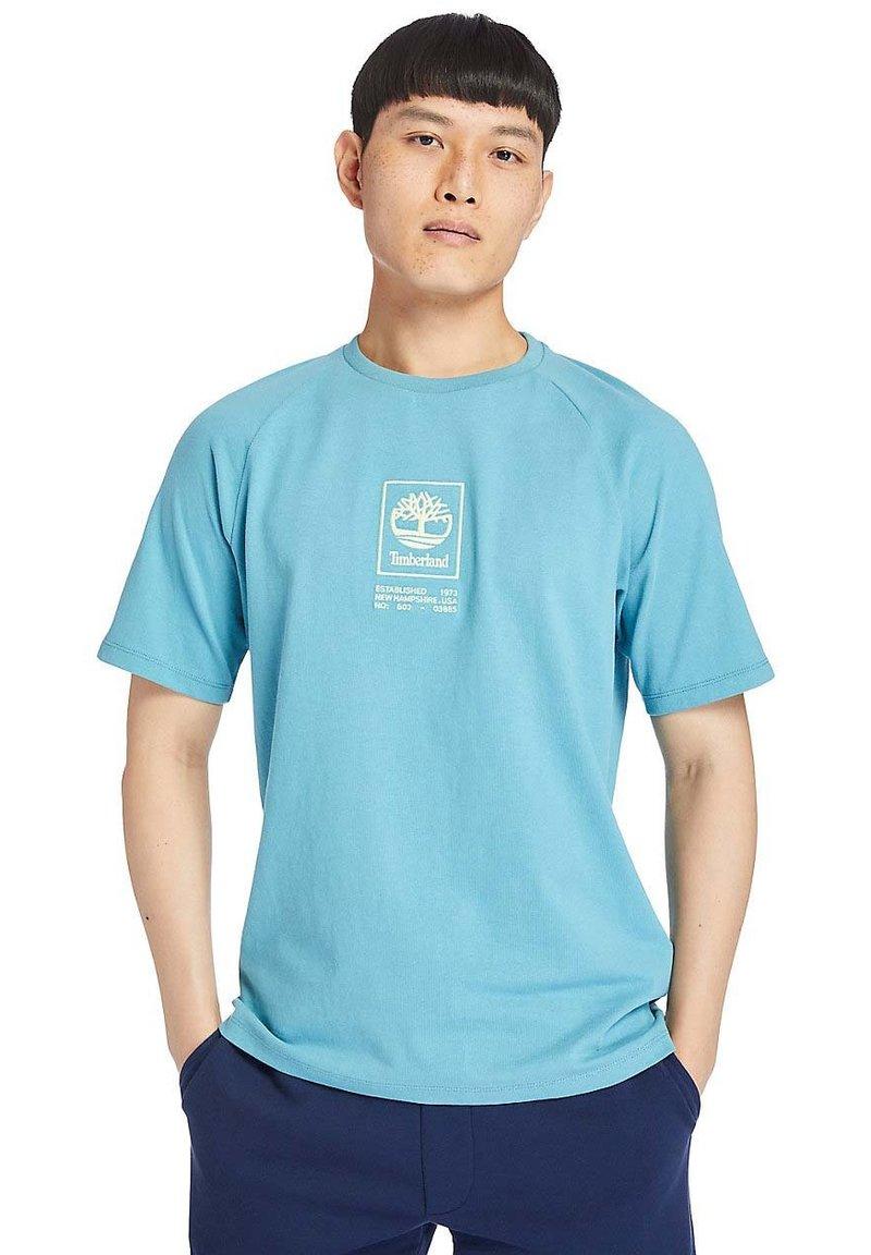 Timberland - Print T-shirt - adriatic blue