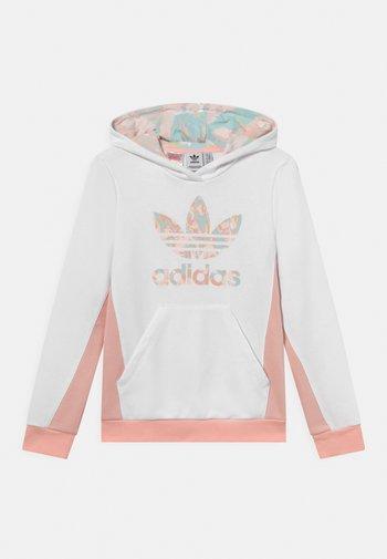 HOODIE - Sweatshirts - white/haze coral