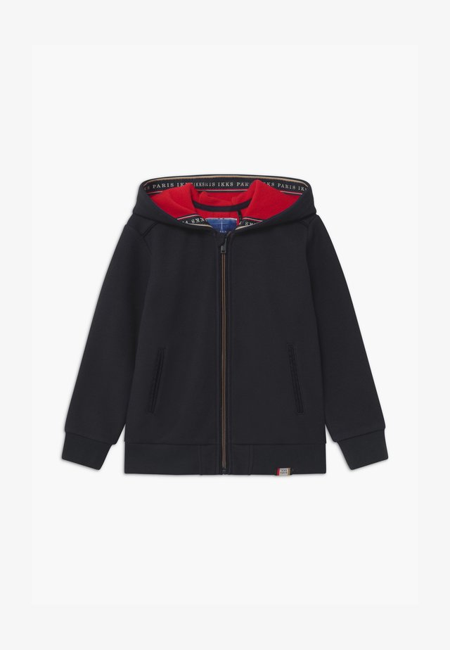 NAVY SMART ZIP THROUGH HOODIE - Bluza rozpinana - navy