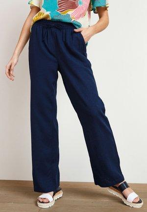 Kalhoty - mottled dark blue