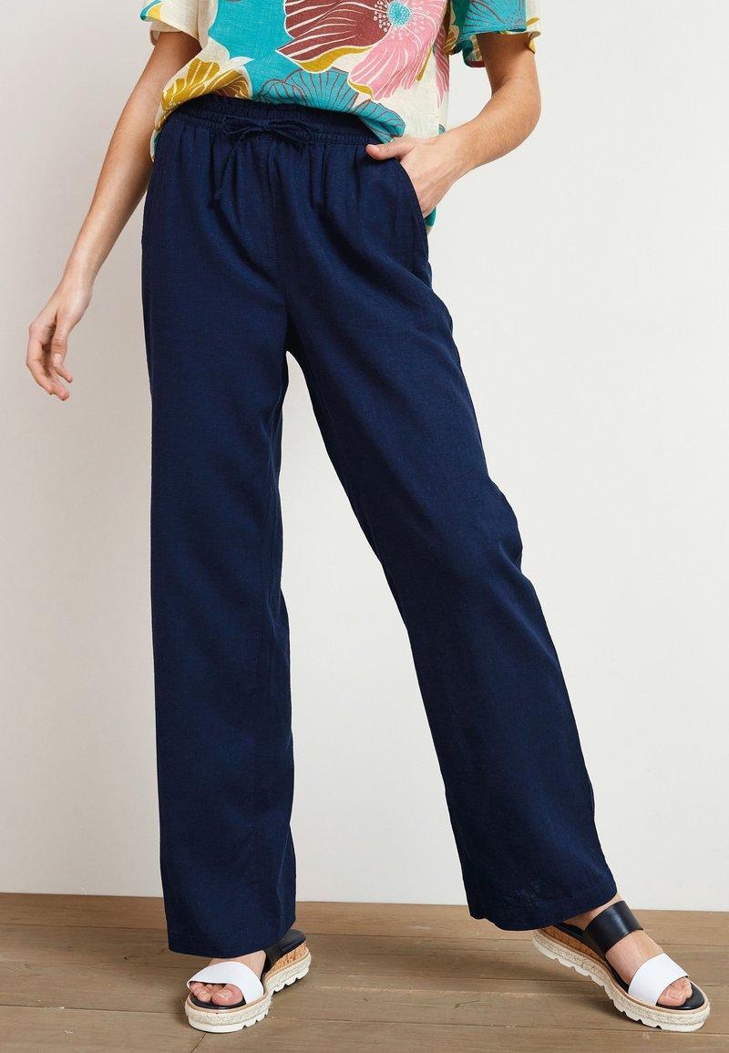 Next - Trousers - mottled dark blue