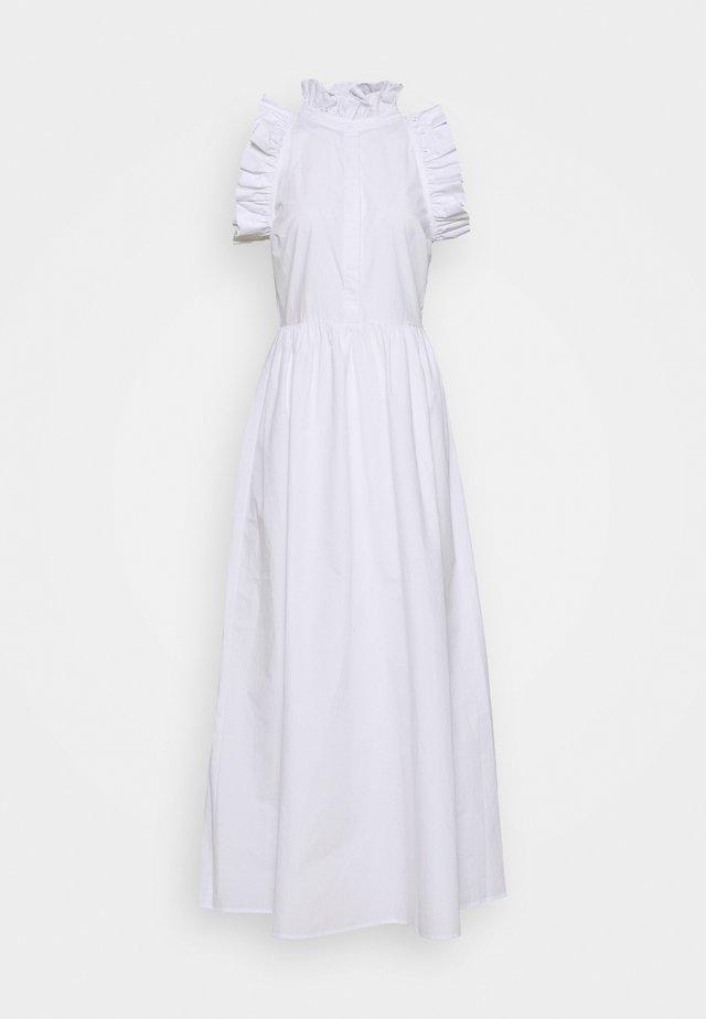 HIGH NECK DETAILED DRESS - Koktejlové šaty/ šaty na párty - white