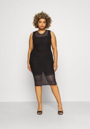 RACER NECK - Maxi dress - black