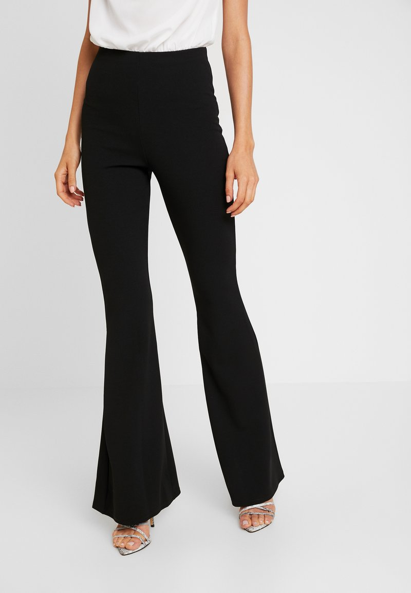 Missguided - TROUSER FLARE - Trousers - black