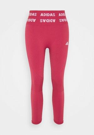 DESIGNED4TRAINING AEROKNIT PRIMEGREEN 7/8 LEGGINGS - Punčochy - wild pink