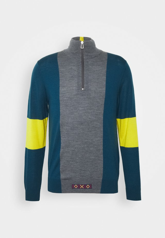 MENS ZIP NECK - Strickpullover - light blue