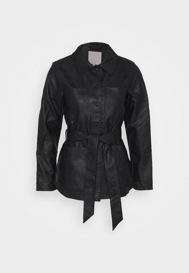 PCSEPTIMA - Faux leather jacket - black