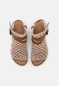 Blowfish Malibu - VEGAN BALLA - Ankle cuff sandals - gold draped - 5
