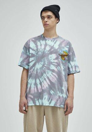 TIE-DYE SIMPSONS - Print T-shirt - grey