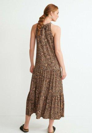 HALTERNECK - Maxi dress - brown