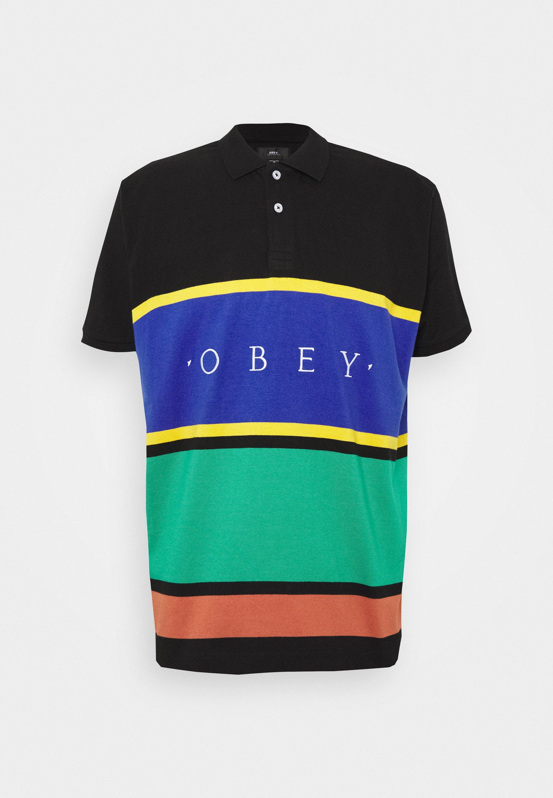 Obey Clothing Pledge - Koszulka Polo Black/multi