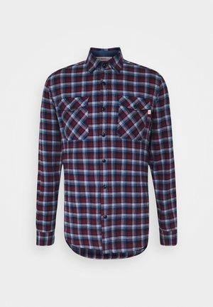 PLAID - Shirt - navy/berry