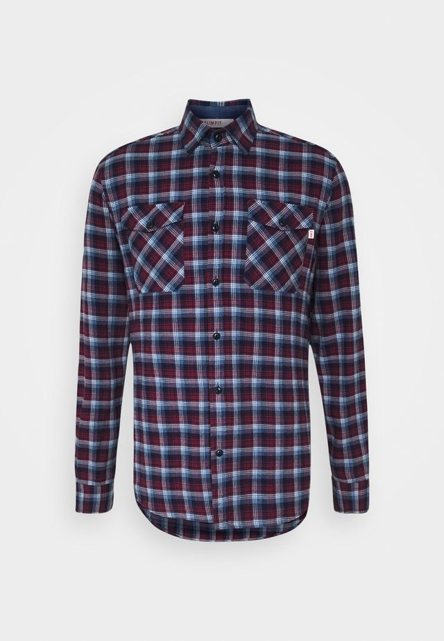 PLAID - Skjorte - navy/berry