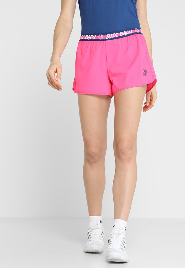 RAVEN TECH  SHORTS 2-IN-1 - Urheilushortsit - pink/dark blue
