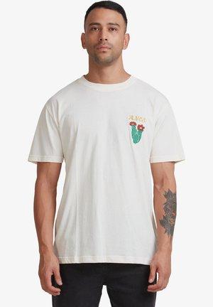 SOCIETAS - Print T-shirt - bleached