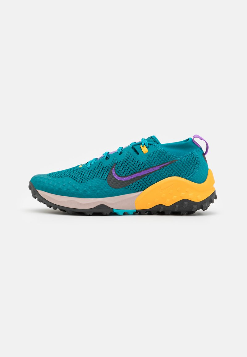 Nike Performance - WILDHORSE 7 - Trail running shoes - mystic teal/dark smoke grey/turquoise blue/universe gold/wild berry/fossil stone