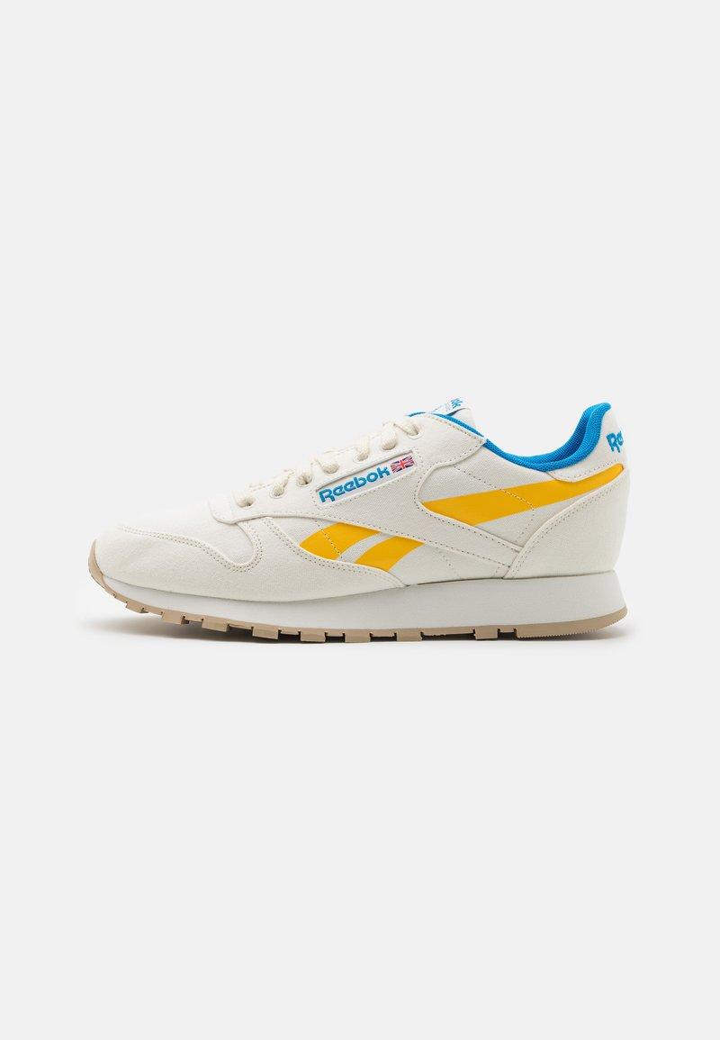 Reebok Classic - CL LTHR GROW - Trainers - chalk/pride yellow/horizon blue