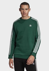 adidas Originals - 3-STRIPES CREWNECK SWEATSHIRT - Mikina - green - 0