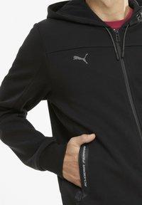 Puma - FERRARI STYLE - Sweat à capuche zippé - black - 3