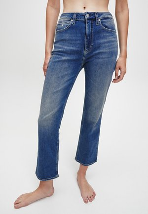HIGH RISE  - Flared Jeans - bright blue