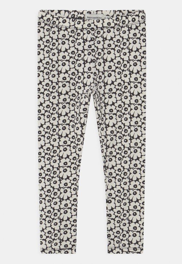 LAIRI PIKKUINEN UNIKKO - Legging - black/off white