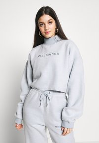 Missguided - NEW SEASON CROPPED - Sweatshirt - powder blue - 0