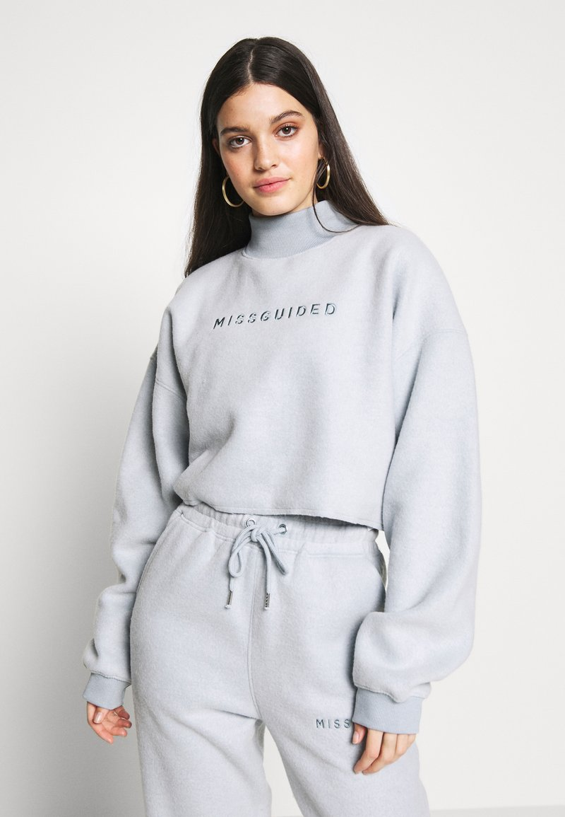 Missguided - NEW SEASON CROPPED - Sweatshirt - powder blue