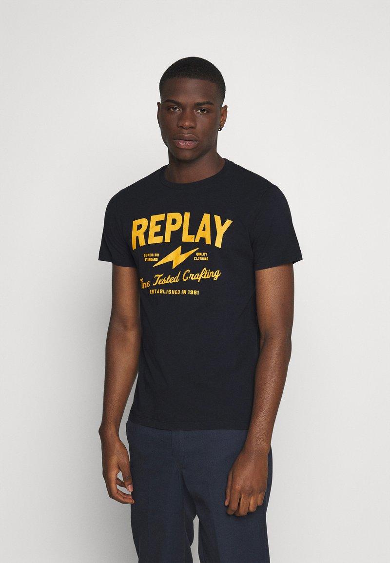 Replay - TEE - T-shirt imprimé - blue
