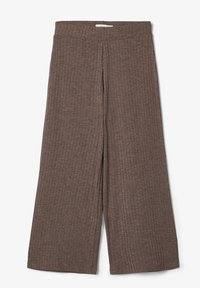 Name it - MIT WEITEM BEIN 7/8-LANGE GERIPPTE - Broek - deep taupe - 4