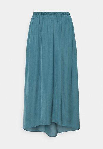 TANDRA - Falda plisada - tide blue