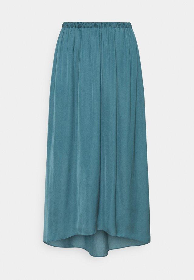 TANDRA - Veckad kjol - tide blue