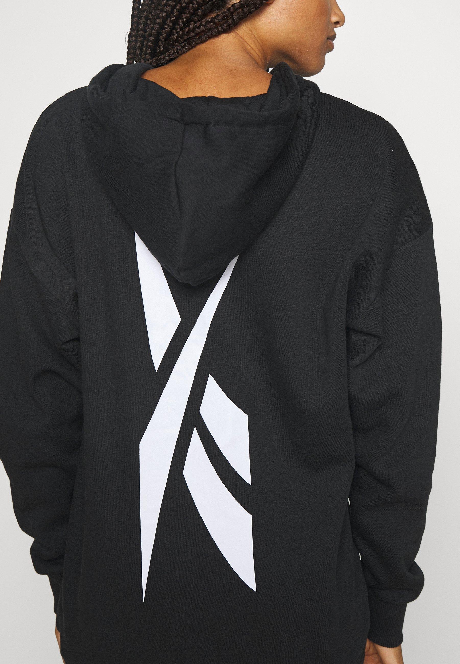 Reebok OVERSIZED HOODY - Sweatshirt - black hTlrP