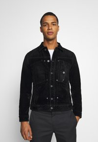 G-Star - SCUTAR SLIMJKT - Summer jacket - black iced flock - 0