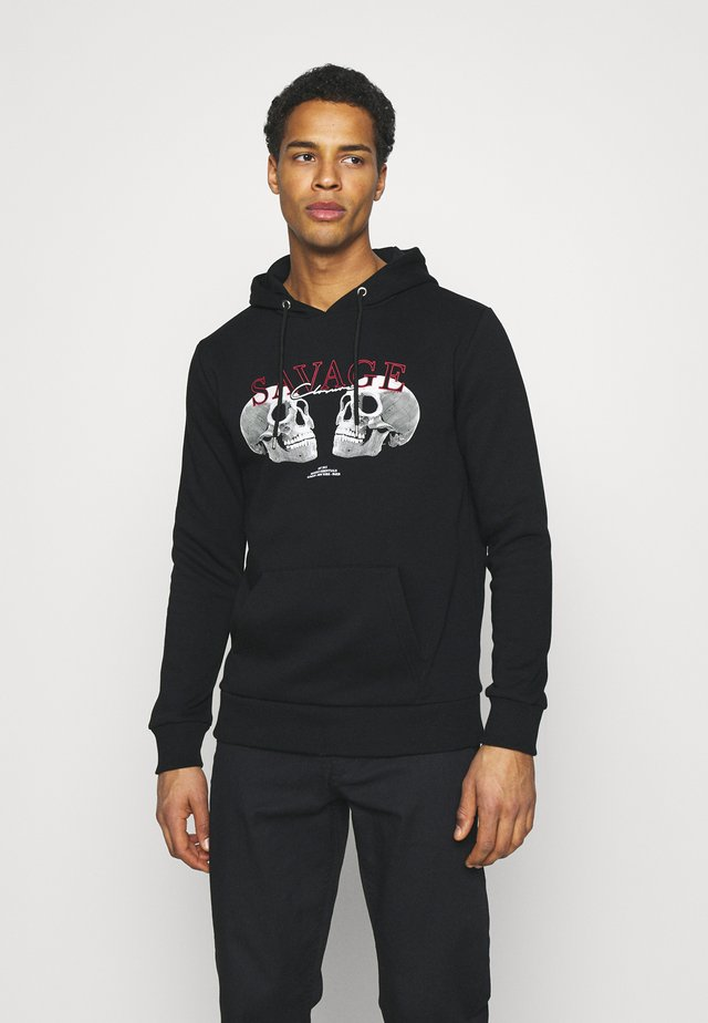 SAVAGE DEATH HOODY - Felpa - black