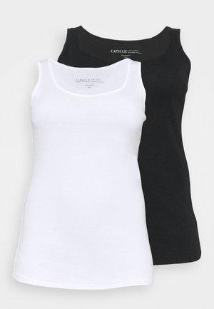 LINE VESTS 2 PACK - Toppi - black/white
