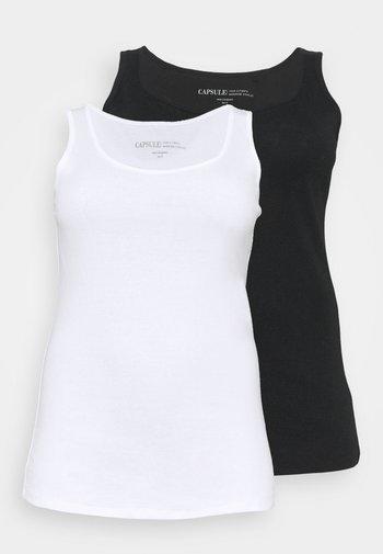 LINE VESTS 2 PACK - Top - black/white