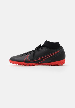 MERCURIAL 7 ACADEMY TF - Astro turf trainers - black/dark smoke grey