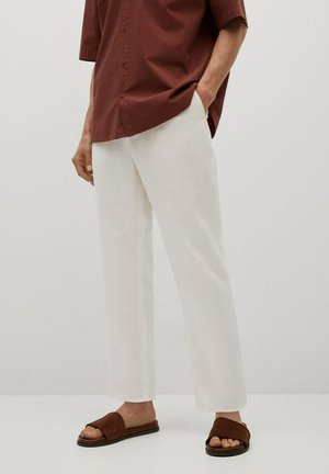 RELAXED FIT - Broek - cremeweiß