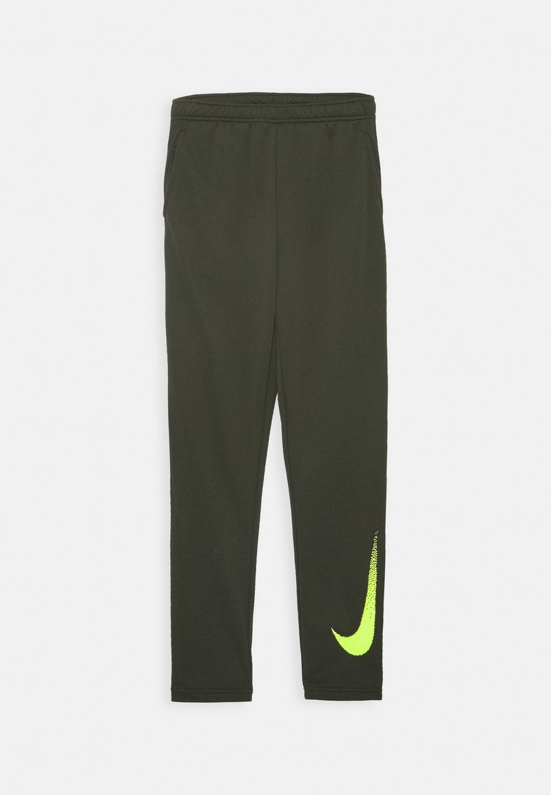 Nike Performance - DRY PANT - Tracksuit bottoms - cargo khaki/volt