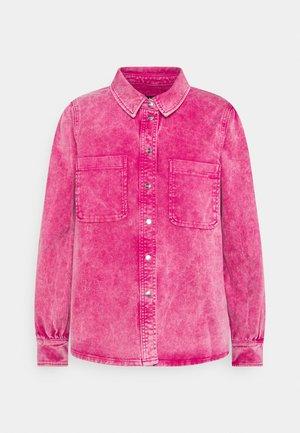 LAVINA AZID - Denim jacket - dark fuchsia pink