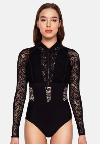 EUPHORIA LACE TOP - Swimsuit - black