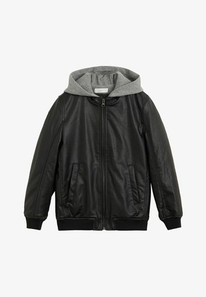 BENJI - Faux leather jacket - schwarz