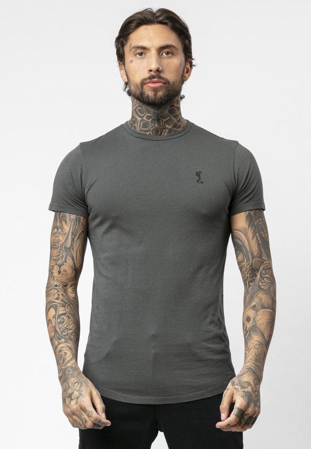 T-shirt print - dark metal