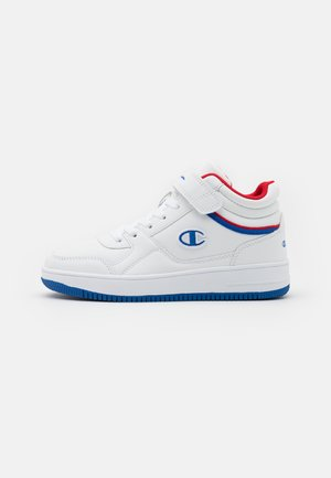 MID CUT SHOE REBOUND VINTAGE MUNISEX - Basketball shoes - white/retro blue/red