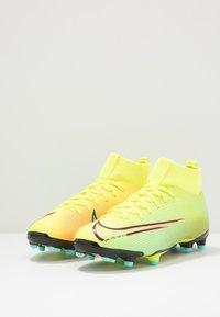 Nike Performance - MERCURIAL JR 7 ACADEMY MDS FGMG UNISEX - Moulded stud football boots - lemon/black/aurora green - 3